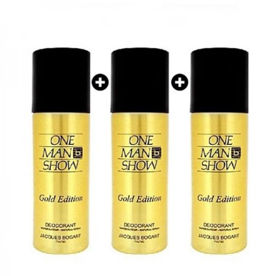 Jacques Bogart One Man show Gold Edition Deodorant Bundle