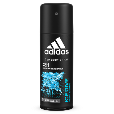 Adidas Ice Dive Deodorant Body Spray 5oz 150ml