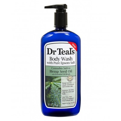 Dr Teal's Body Wash with Pure Epsom Salt and Hemp Seed Oil 710ml