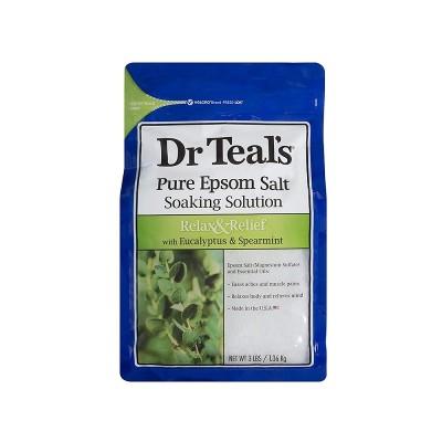 Dr Teal's Relax & Relief Pure Epsom Salt Soak with Eucalyptus & Spearmint 1.36kg