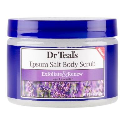 Dr Teal's Exfoliate & Renew Epsom Salt Body Scrub Lavender 16oz