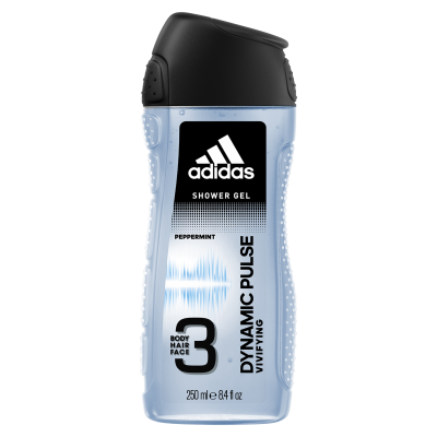 Adidas Dynamic Pulse 3 In 1 Body, Hair & Face Shower Gel For Men 250ml