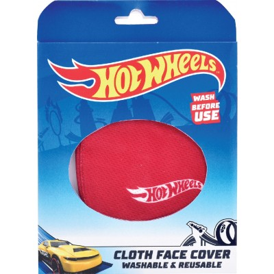 HotWheels Washable Face Kids Mask Non Medical Reusable Cotton With Valve Filter For Children