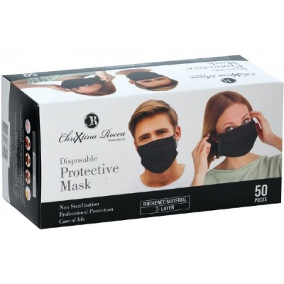 Disposable three Layer Black Face Mask
