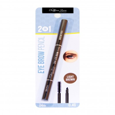 Chrixtina Rocca 2 in 1 Eye Brow Pencil Light Brown