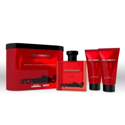 Drakers By Ferrari Competition Red Edt 100ml + Shower Gel 100ml + Hair Body Wash 100ml