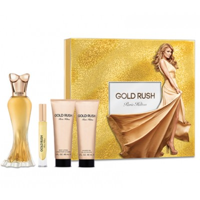 Paris Hilton Gold Rush 4 Piece Gift Set For Women