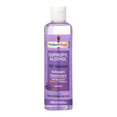 Isopropyl Alcohol 70% Solution With Moisturizer Vitamin-E Lavender 250ml