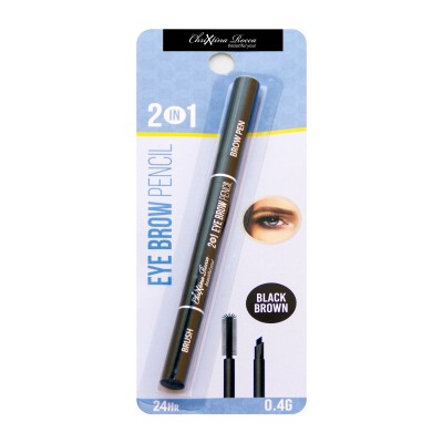 Chrixtina Rocca 2 in 1 Eye Brow Pencil Black Brown