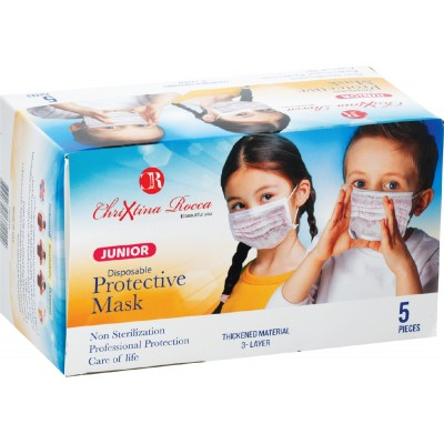 Disposable three Layer Pink Face Mask For Kids