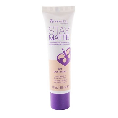 Rimmel London Stay Matte Liquid Mousse Foundation Light Ivory (091)