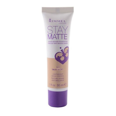 Rimmel London Stay Matte Liquid Mousse Foundation True Ivory (103)