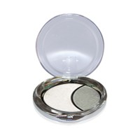 DMGM Studio Perfection Duo Eye Shadow Satin White Silver Gray