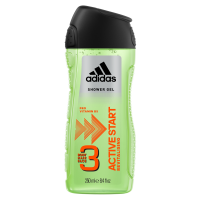 Adidas Active Start 3 In 1 Body, Hair & Face Shower Gel For Men 250ml