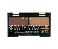 Rimmel London Brow this way palette  Dark Brown (003)
