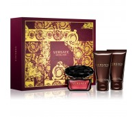 Versace Crystal Noir 3 Pieces Gift Set For Women ( 50 ml EDT + Body Lotion + Shower Gel )