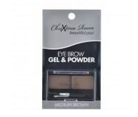 Chrixtina Rocca - Beautiful You! Eye Brow Gel & Powder - Medium Brown