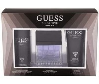 GUESS Seductive Eau de Toilette 100 ml + Shower Gel 200 ml + Body Spray 226 ml, Gift Set for Men