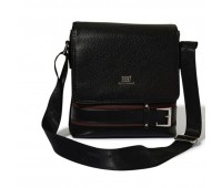 Roberto Ballmore Magnetic Flap Closure Buckled Messenger Bag SC44235a